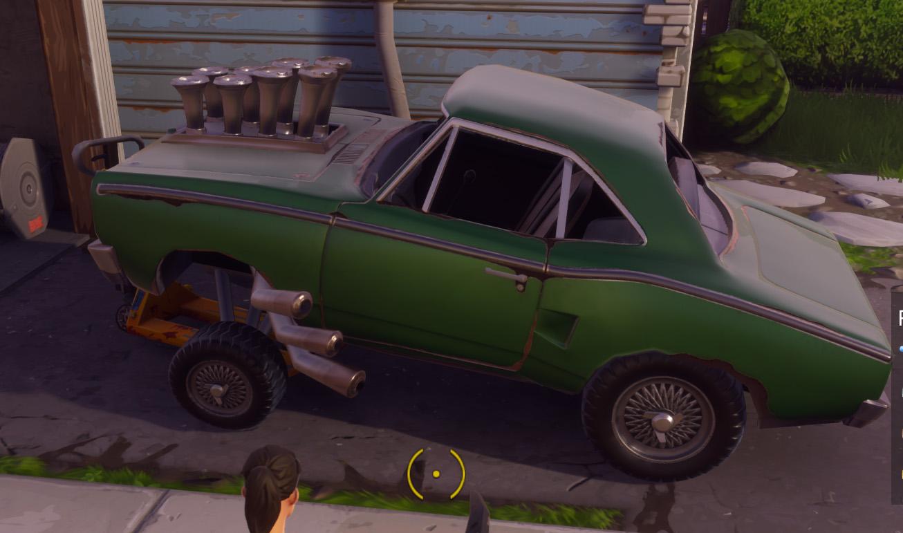 how to drive a car in fortnite