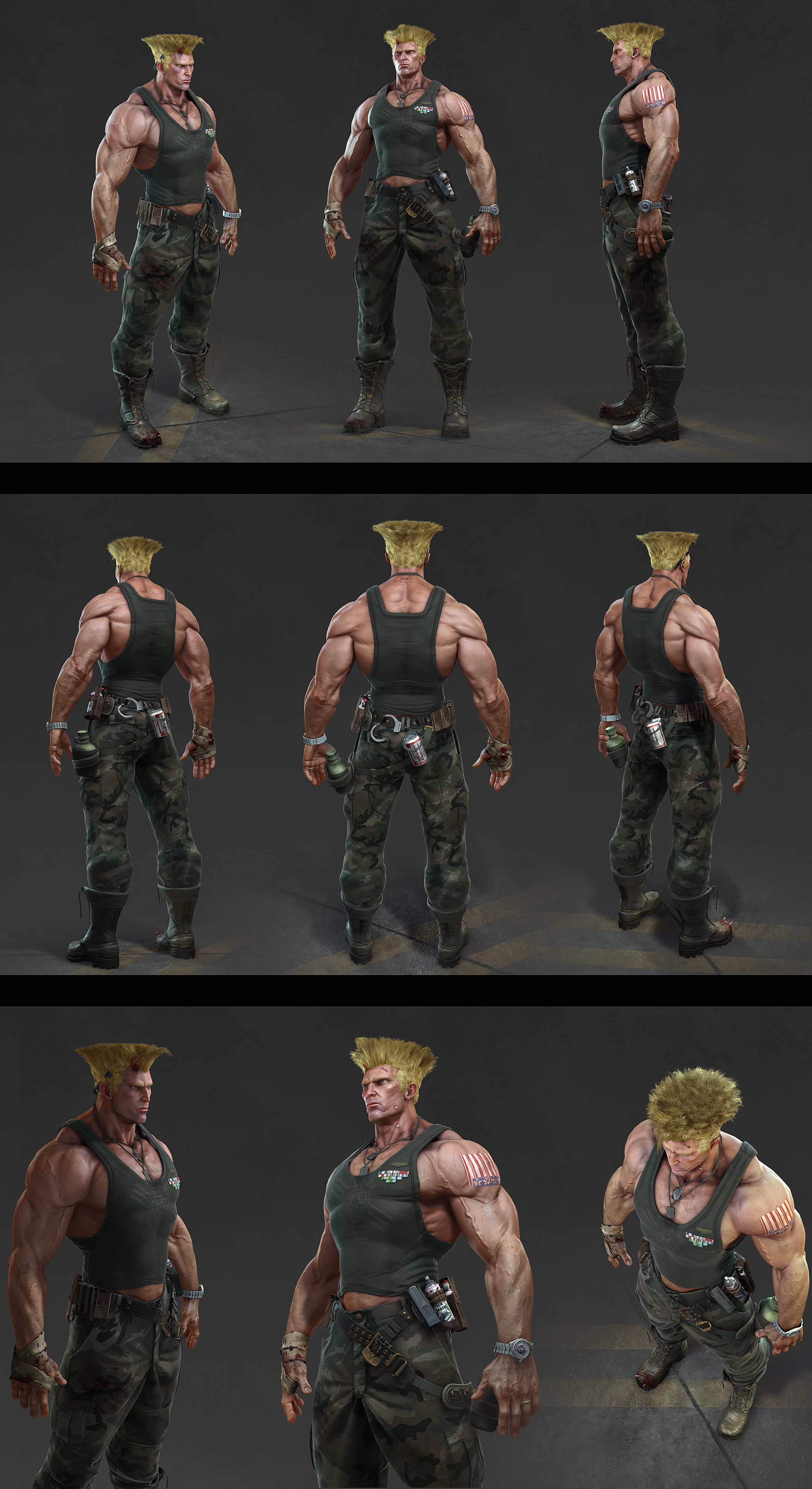 street fighter guile hair